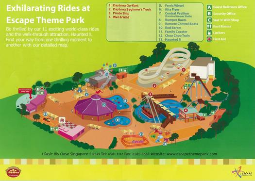 Escape Theme Park > Park Map & Services